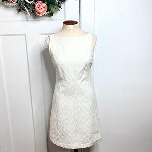 Ted Baker Patterned Ivory Sheath Cocktail Dress